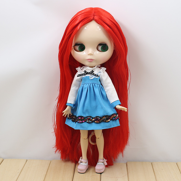 Bjd doll 1/6 B female Nude Blyth doll with joint body blyth doll diy long red hair toys ...