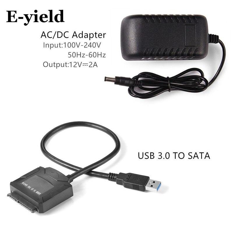 Sata adaptador de Cable de USB 3,0 a Sata convertidor 2,5 de 3,5 pulgadas Super velocidad de disco duro para HDD SSD USB 3,0 a Sata Cable