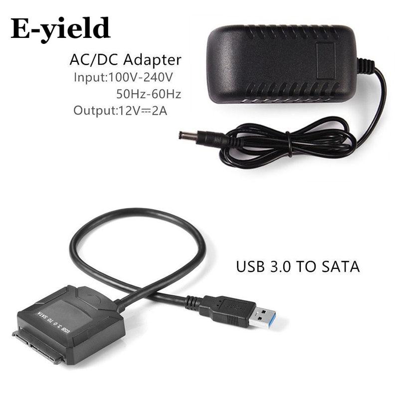 Sata Adapter Kabel USB 3.0 zu Sata Konverter 2,5 3,5 zoll Super geschwindigkeit Festplatte für HDD SSD USB 3.0 zu Sata-kabel