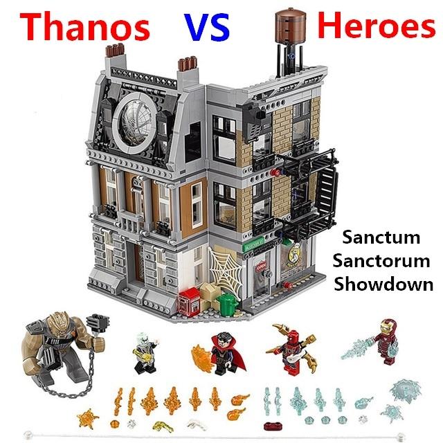 Marvel Super Heroes Sanctum Sanctorum Showdown Sanctum Thanos IRON MAN Doctor Strange Figures blocks Compatible with lego 76108 sanctum