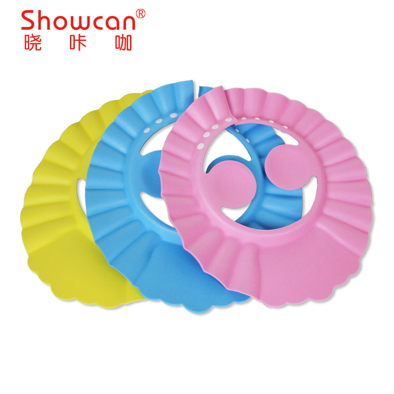 new Baby Kids Shampoo Cap thicker Adjustable EVA Foam Bath Shower Cap Hat water Wash Hair Shield take a shower protect image