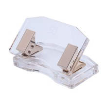 Acrylic Gold curved hole punch stationery by Draymond Story
