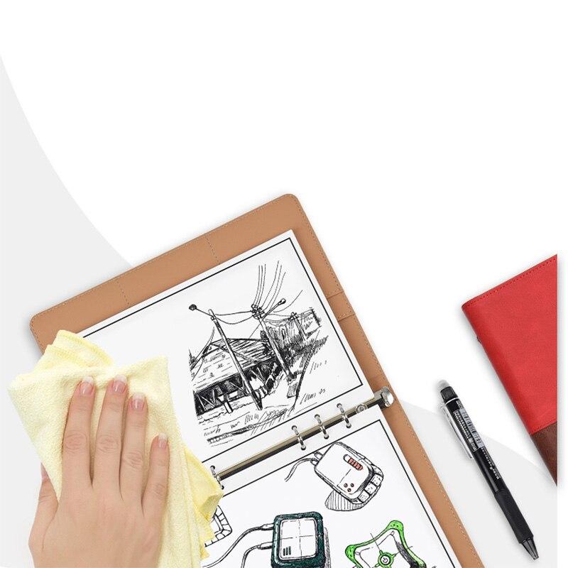 Leather Wirebound Reusable Cloud Storage Smart Notebook 2