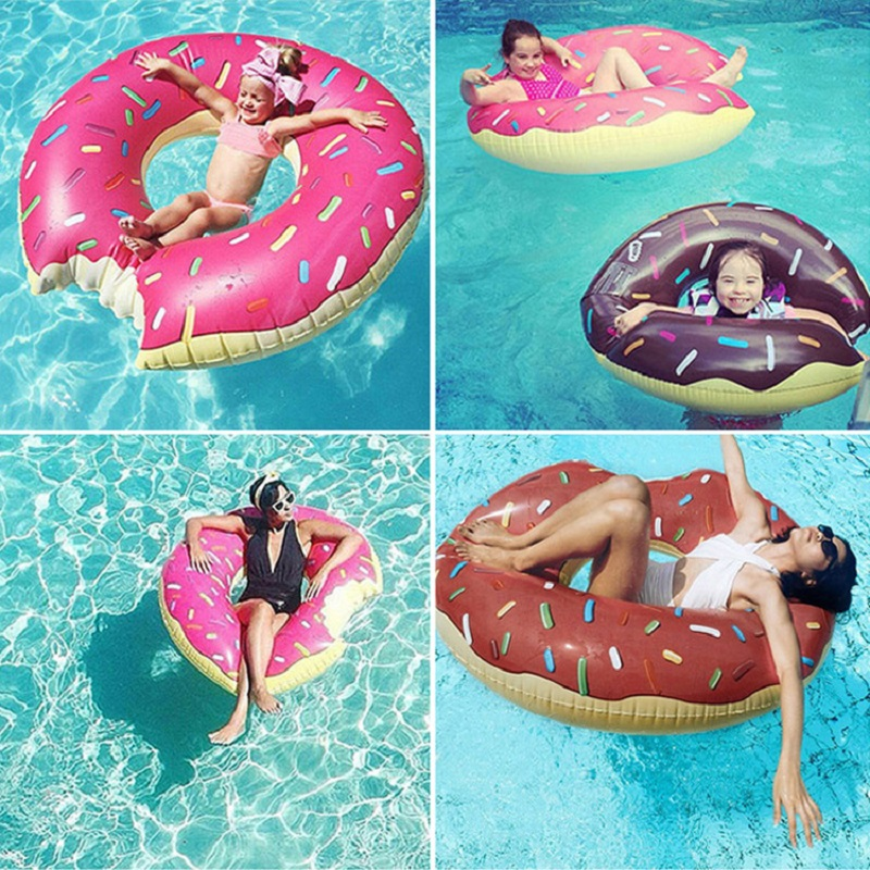 Inflatable Donut Swimming Ring Giant Pool Float Toy Circle Beach Sea Party Inflatable Mattress Water Adult Kid Hot Sale