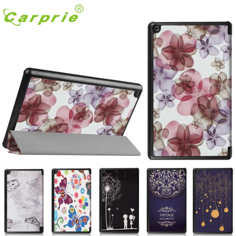 CARPRIE Folding Stand Painted Leather Case Cover For Amazon Kindle Fire HD 8 2016 Mar2 MotherLander