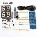 Dc5v DIY 4 бит 7 пункте зеленый из светодиодов электронные часы люксы точное время дисплей