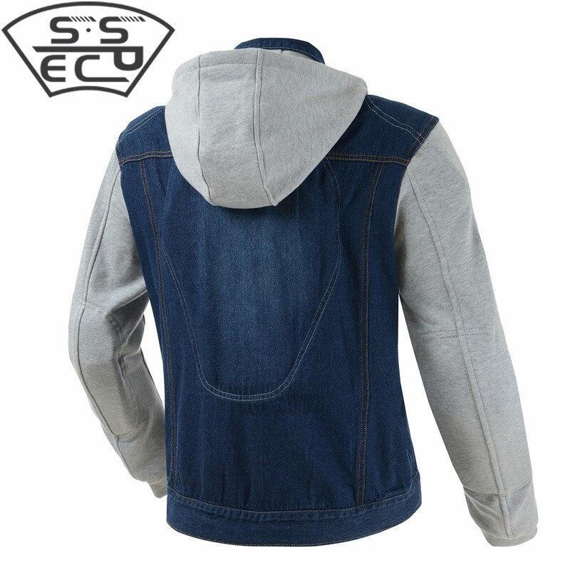 SSPEC de la motocicleta chaqueta de Denim Vintage de los hombres ... 0ab4de29a41ce