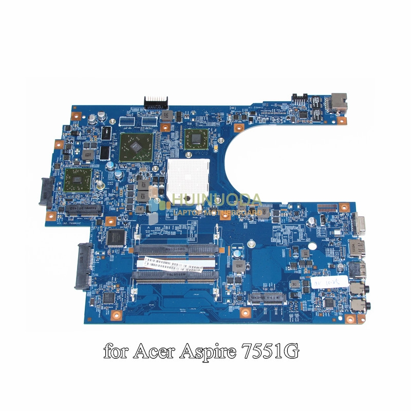 NOKOTION MBPT801001 MB.PT801.001 for acer aspire 7551 7551G laptop motherboard 48.4HP01.011 Socket s1 DDR3 HD 5470 Free CPU nokotion nbm1011002 48 4th03 021 laptop motherboard for acer aspire s3 s3 391 intel i5 2467m cpu ddr3