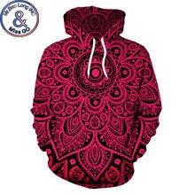 Psychedelic Mandala Floral Print Hoodie Sweatshirt Men Women Fashion 3D Hoodies Men Harajuku Hip Hop Hooded