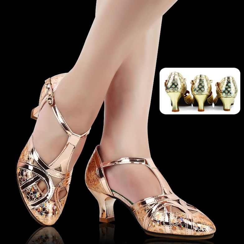 7f5d078e72872 Women s Grete leather Latin dance shoes 3.5 5.5 6.5cm heel soft bottom  Modern