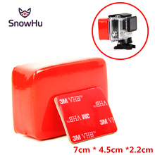 SnowHu for Gopro Float Floaty Box With 3M Adhesive Anti Sink Sticker Block Buoy Sponge Hero 7 6 5 4 Yi GP46