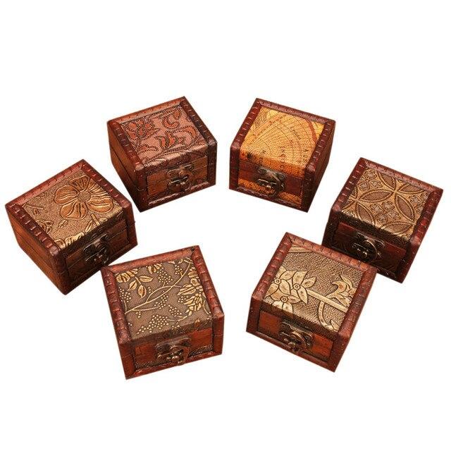 Retro Storage Box Case 1 PC Handmade Wooden Jewelry Storage Box Organizer with Lock Creative Present  sc 1 st  AliExpress.com & Retro Storage Box Case 1 PC Handmade Wooden Jewelry Storage Box ...