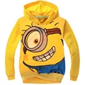 Despicable Me Minions Boys Hoodies Kids nova T Shirts Children Spring Autum Hooded Tops & Tee Minions T-shirt 4-8 Years
