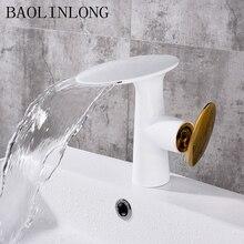 Bathroom Faucets Brass Tap Basin Deck Mount Vanity Vessel Sinks Mixer Waterfall Faucet стоимость