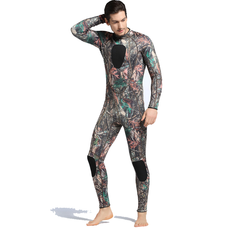 Men 3mm Neoprene Camouflage Spearfishing Diving Suit Men Wetsuits With Long Sleeve Swimwear Scuba One Piece Swimsuit size S-XXL men s winter warm swimwear rashguard male camouflage one piece swimsuit 3mm neoprene wetsuit man snorkeling diving suit