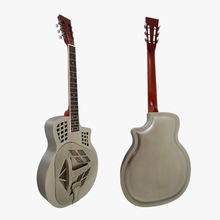 Triolian Antique Finish Steel Body Tricone Blues Slide Resonator Guitar  with free hard case