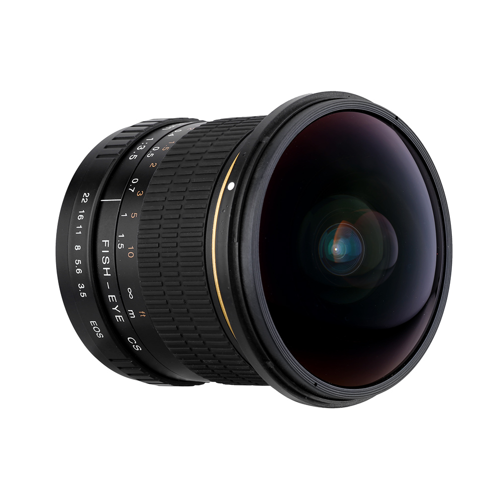 Kelda 8mm F/3.5 F3.5 Ultra Large Fisheye camera LENS pour canon 60d 650d 700d 750D 600d 550d 500d 1000d 1200D 1300D 70D 760D 80D - 2