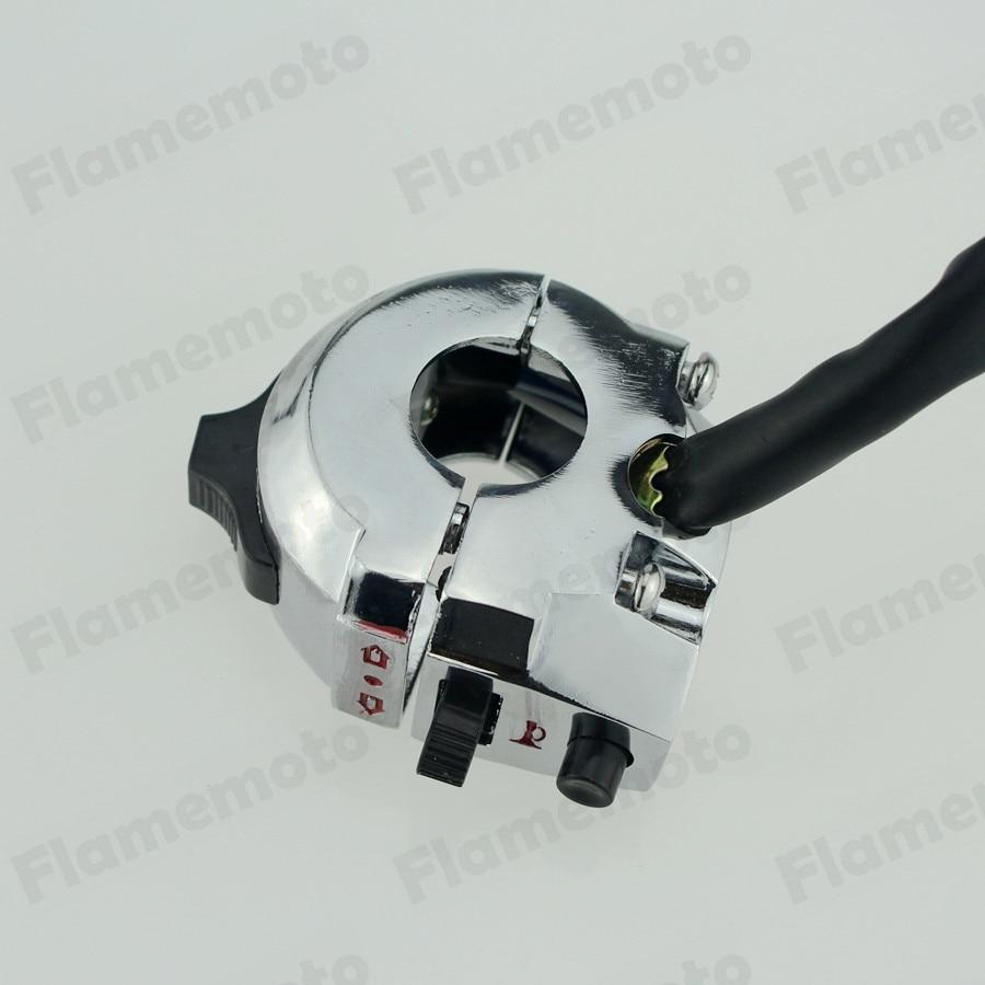 7 8 22mm Chrome Motorcycle Handlebar Switch Turn Signal Light Horn Heavy Duty Aeproductgetsubject