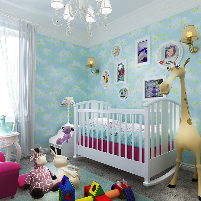 0,53x10 Meter Kinderzimmer Sternenhimmel Muster Tapete Männer Und Mädchen  Schlafzimmer Decke Arbeitszimmer Nicht Vliestapete