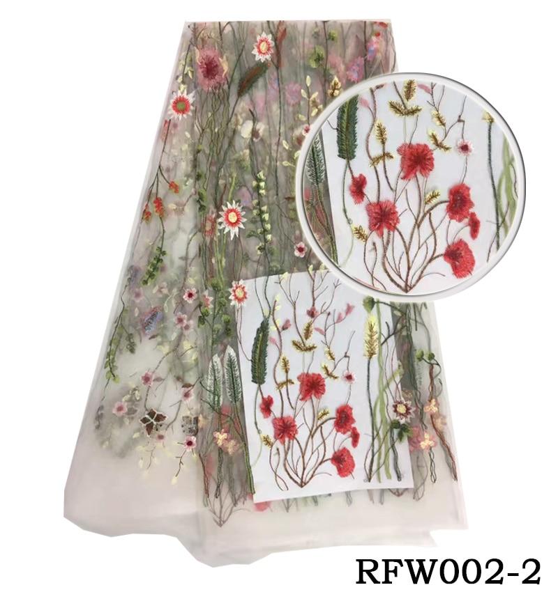 Britský venkovský styl francouzské krajkové tkaniny čerstvé africké tylové tkaničky 2017 módní nigerijské krajkové tkaniny RFW002