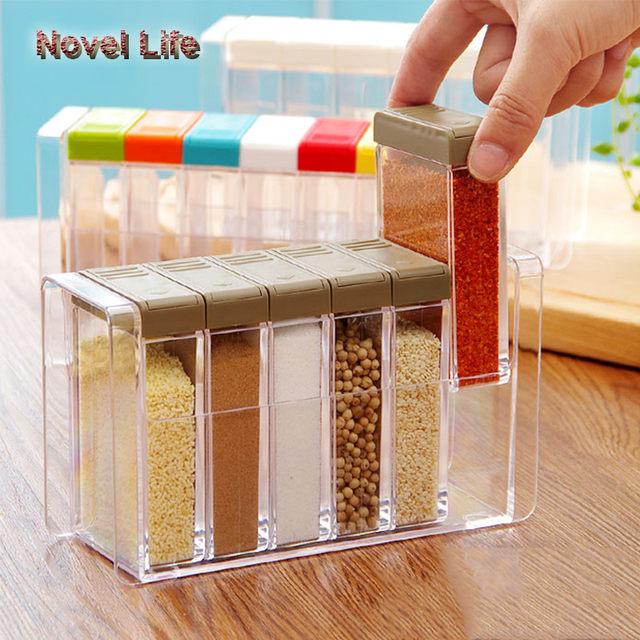 household items creative idea korean style small box set for kitchen condiments 6pcs a set colorful - Kitchen Items