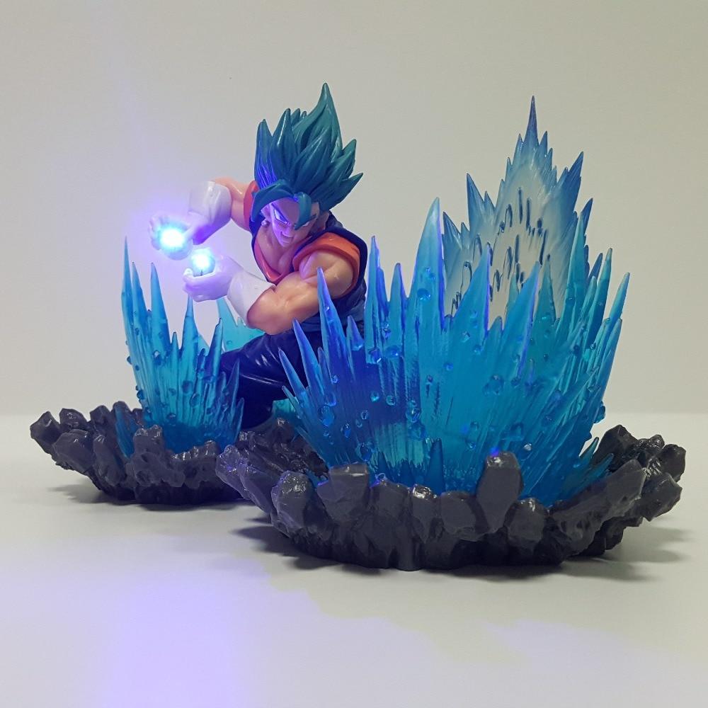 Dragon Ball Z Vegetto Blue Led Night Lights Lampara Dragon Ball Super Goku Vegeta Kamehameha Lamp Lampara Led Dragon Ball