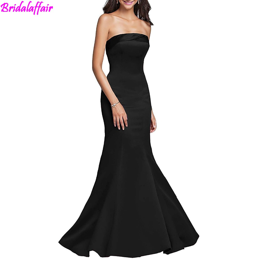 Womens Mermaid Prom Dresses long elegant Gown 2019 Formal Evening Gown vestido formatura black prom dress