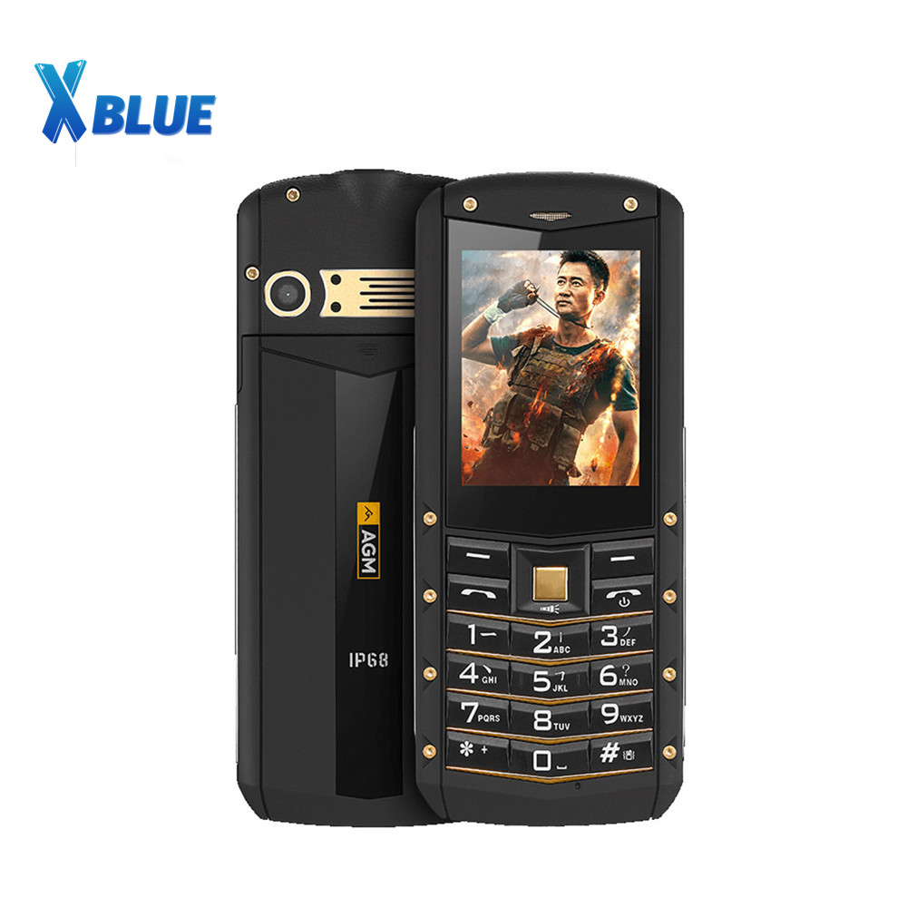 AGM M2 IP68 Rugged Waterproof Shockproof Phone GSM Dual SIM Card Bluetooth FM Old man Student