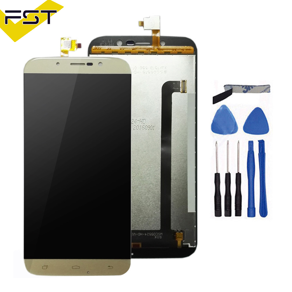 For UMI Rome X LCD Display With Touch Screen Digitizer Assembly Black and Gold Replacement Part+Free TOOLS