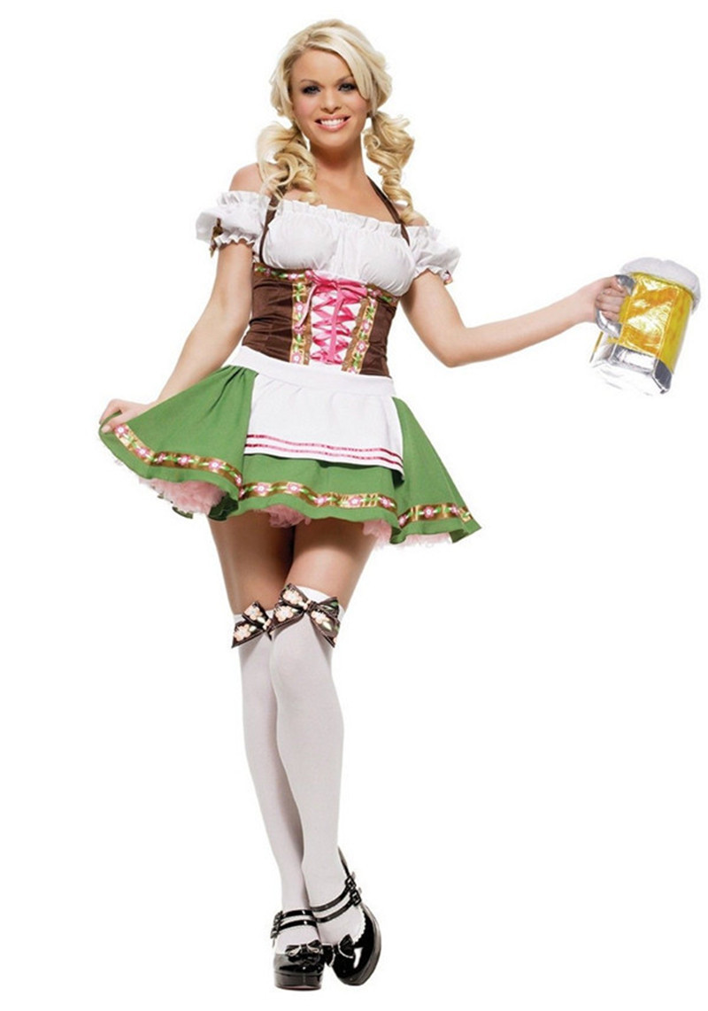 Dress up xl games - Womens Traditional German Bavarian Beer Girl Costume Sexy Oktoberfest Festival Carnival Party Fancy Dress