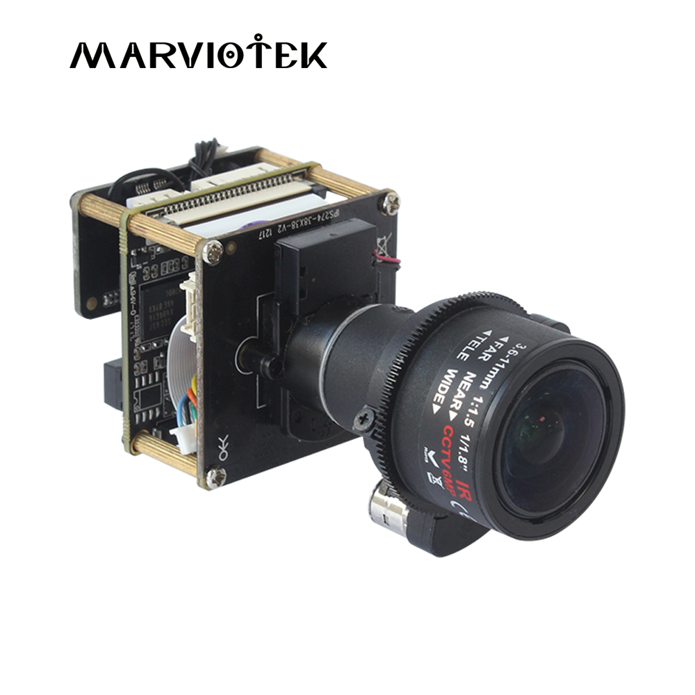 IMX274 CCTV Camera Module 4K 8MP Starlight UHD IP PTZ Network IP Camera Module Board 3X