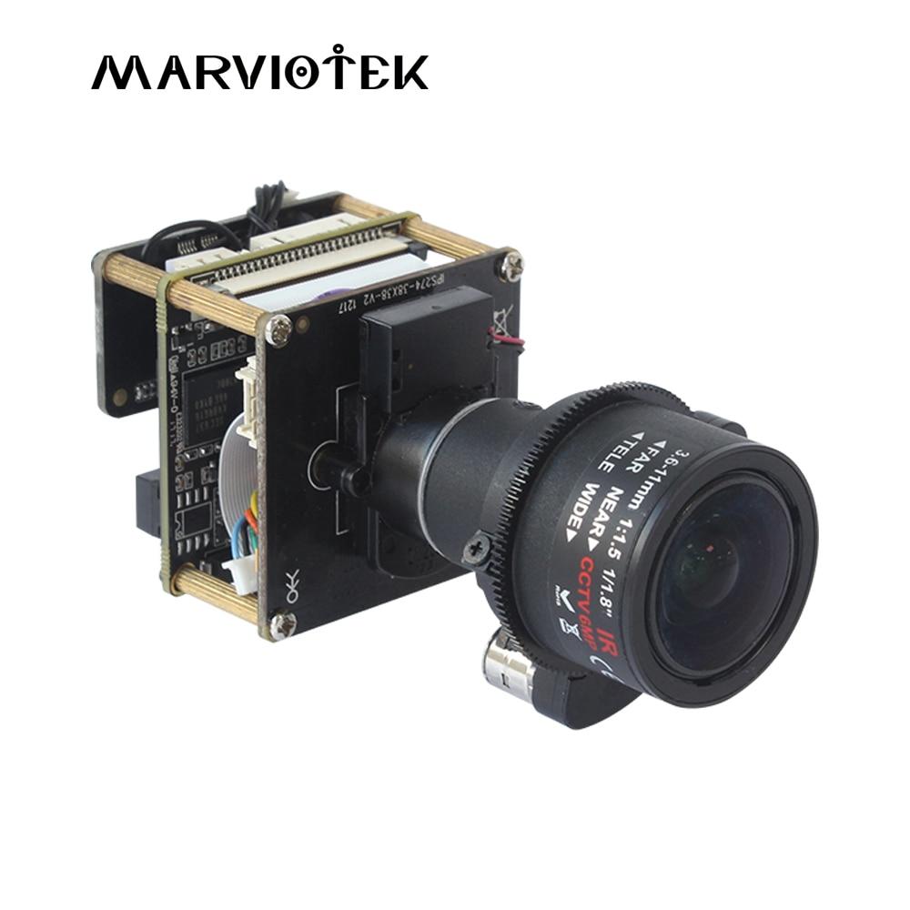 IMX274 CCTV Modulo Telecamera 4 K 8MP Starlight UHD IP PTZ Telecamera ip di Rete di Bordo del Modulo 3X Zoom 3.6- 11 millimetri Motorizzato Lens Sony Onvif