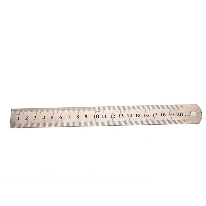 คุณภาพสูงสแตนเลสไม้บรรทัดเมตริก RULE ความแม่นยำสองด้านเครื่องมือวัด 22.8 ซม.