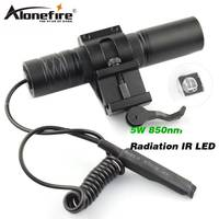 AloneFire 850nm Zoom Infrared Radiation IR LED Night Vision Flashlight Camping Light Hunting Lamp Infrared IR
