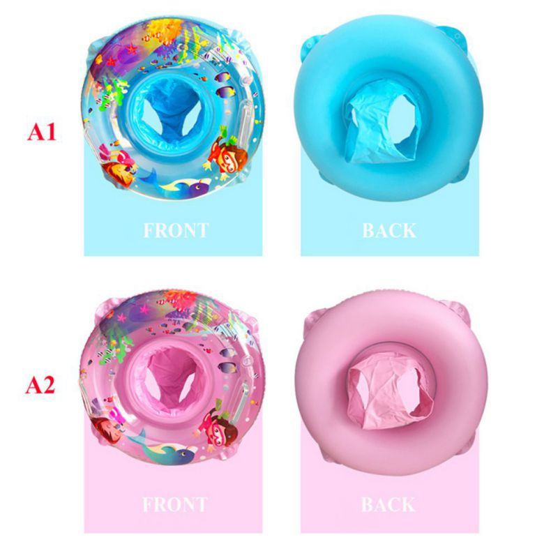 2018 Baby Swimming Ring Pool Toy Inflatable Cartoon Double Layer Pool Float Baby Summer Water Fun Pool Toy