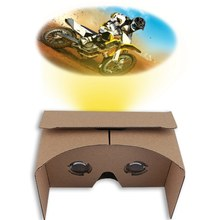 Newest Cardboard 1.0 6 Inch DIY for Google Cardboard 3D VR Virtual Reality Glasses Hardboard For Any Smartphones Below 6 Inch(China)