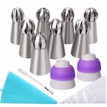 Sphere Ball Shape Russian Icing Nozzles Tips Cupcake Decor Kitchen Baking Tool Plus Cake Decorating Tools