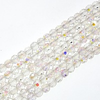 Czech Colorful Rondelle round 8mm Crystal Glass Spacer Loose Beads Charms
