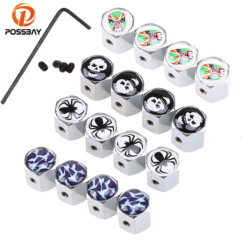 4x Crown White Wheel Tyre Tire Valve Stems Air Dust Cap Cover for Yamaha