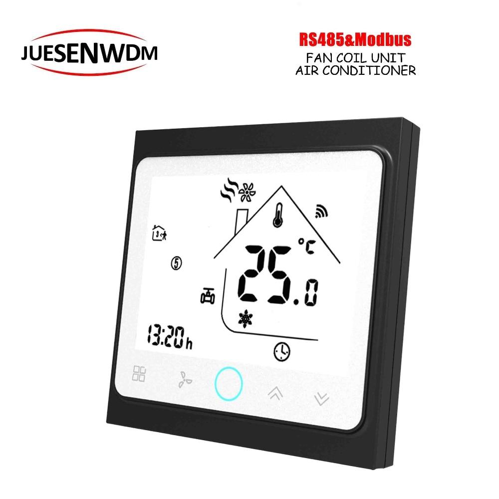 4 パイプ 2 液晶 screem タッチボタン modbus ルームサーモスタット RS485 ため冷却/加熱制御スイッチ  グループ上の 家のリフォーム からの スマート温度コントロールシステム の中 1