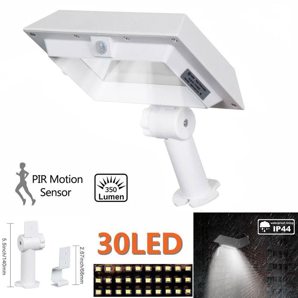 T-SUN Solar Gutter Lights 30 LED PIR Motion Sensor Solar Lights Waterproof Powered Security Lamp for Outdoor Garden Fence Garage