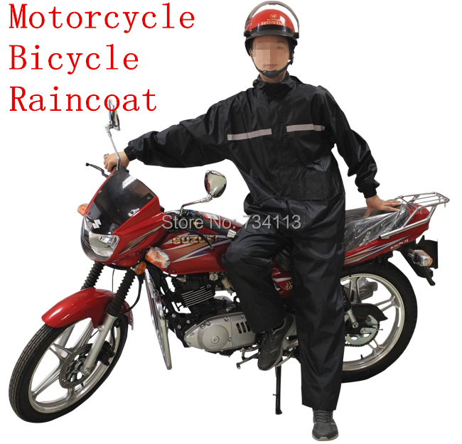 Raincoat large size Motorcycle bicycle rain suit men and women rain gear Loose Design fishing camping outdoor rain clothing