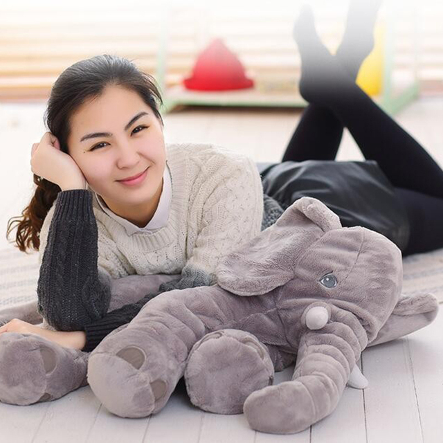 40/60CM  Elephant Plush Pillow Infant Soft For Sleeping Stuffed Animals  Toys Baby 's Playmate gifts for Children WJ346 2