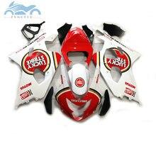 Verkleidung set für SUZUKI GSXR600 750 2004 2005 verkleidungen kit 04 05 GSXR 750 GSXR 600 K4 K5 rot Glück strike DZ56