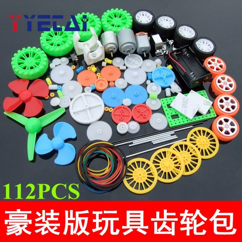 YongYeTai 112 Plastic Gear Axle Motor Tire Combination Kit Model Accessories
