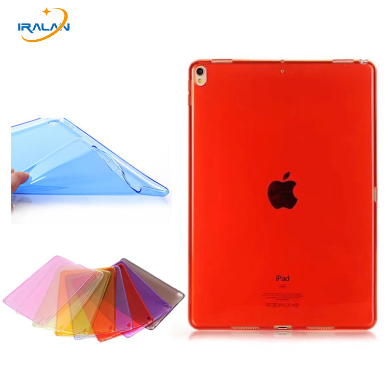New Transparent Soft Silicone TPU Tablet Case For iPad Pro 10.5 2017 Thin Protective back Cover For iPad Pro 10.5 A1701/1709+pen