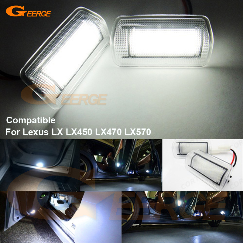 US $17 58 15% OFF|For Lexus LX LX450 LX470 LX570 2008 2014 Excellent Ultra  bright 3528 LED Courtesy Door Light Bulb No OBC error-in Signal Lamp from