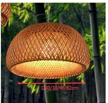 Pendentif En Bambou Fait Main En Asie Du Sud-est Vintage Ferme Restaurant Caissier Japonais Tatami Pastorale Lampes Suspendues Zb26