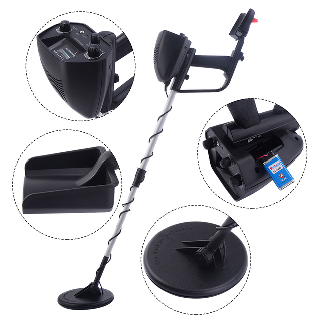 New Waterproof Metal Detector Deep Sensitive Search Gold Digger Hunter 6.5 inch MD-4030 3