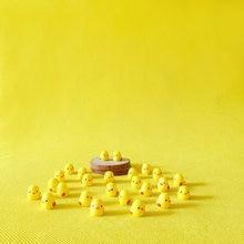 24 pces/pvc amarelo pintainho/miniaturas/animais encantadores/jardim de fadas gnome/musgo terrário decoração/artesanato/bonsai/diy suprimentos/estatueta